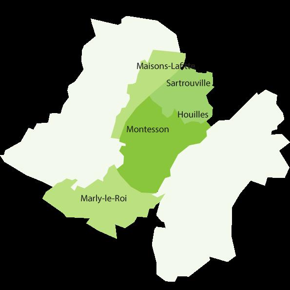 Cartographie territoire du centre hospitalier Théophile Roussel Montesson pour les adultes