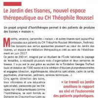 Le Jardin des Tisanes, nouvel espace thérapeutique au CH Théophile Roussel