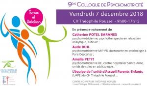 Colloque Psychomotricité Tonus et Relation – 7 décembre 2018