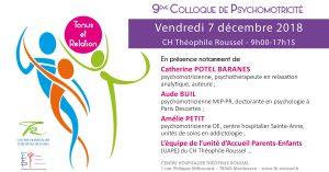 Colloque Tonus et Relation - Psychomotricité - 7 décembre 2018