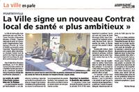 La ville signe un nouveau Contrat local de santé «plus ambitieux»